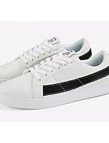 Недорогие -Муж. Комфортная обувь Полотно Весна лето На каждый день Кеды Розовый и белый / Черно-белый / Wit En Groen