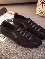 Недорогие -Муж. Комфортная обувь Полиуретан Весна & осень На каждый день Мокасины и Свитер Черный / Серый