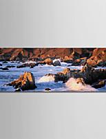Недорогие -С картинкой Роликовые холсты - Фото / Путешествия Modern