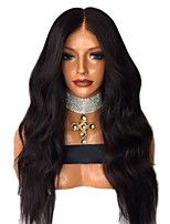 cheap -Virgin Human Hair 360 Frontal Wig Brazilian Hair Body Wave Wig Middle Part / Deep Parting 150% Women / Best Quality / Comfortable Natural Women's Long Human Hair Lace Wig