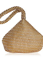 cheap -Women's Bags Polyester / Alloy Evening Bag Crystals Gold / Black / Silver