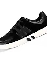 Недорогие -Муж. Полиуретан Осень Удобная обувь Кеды Черный / Серый / Черно-белый