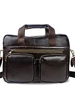 Недорогие -мужские сумки nappa кожа портфель молния кофе