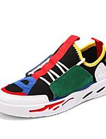 Недорогие -Муж. Комфортная обувь Сетка Осень На каждый день Кеды Дышащий Черный / Серый / Wit En Groen