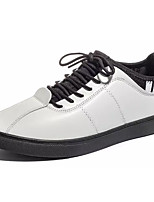 cheap -Men's PU(Polyurethane) Fall Comfort Sneakers Color Block White / Black / Red