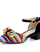 baratos -Mulheres Sapatos Camurça Primavera Plataforma Básica Saltos Salto Robusto Preto / Vermelho / Azul