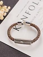 cheap -Men's Braided Bracelet - Totem Series Trendy, Casual / Sporty, Fashion Bracelet Coffee For Date / Street