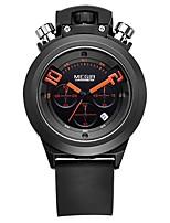 Недорогие -MEGIR Муж. Спортивные часы Японский Кварцевый 30 m Защита от влаги Календарь Секундомер силиконовый Группа Аналоговый На каждый день Мода Черный / Белый - Белый Черный / Фосфоресцирующий