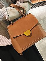 cheap -Women's Bags PU(Polyurethane) Tote Buttons Blue / Brown