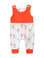 cheap -Baby Girls' Active / Basic Holiday Crane Print Sleeveless Overall & Jumpsuit / Toddler