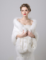 cheap -Sleeveless Faux Fur Wedding / Birthday Women's Wrap With Split Shawls