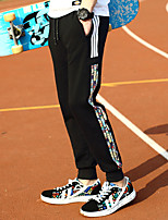 Недорогие -Муж. Карман / Кулиска / Луч Брюки-штаны / Брюки для бега - Черный, Серый, Темно-синий Виды спорта В полоску Тканые брюки Фитнес, Для спортивного зала, Разрабатывать Спортивная одежда / Дышащий