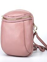 Недорогие -Жен. Мешки PU Мобильный телефон сумка Молнии Черный / Розовый / Винный