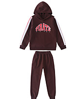 cheap -Kids Boys' Basic Solid Colored Long Sleeve Cotton Clothing Set