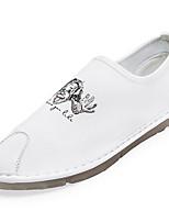 cheap -Men's Moccasin Mesh Spring / Summer Loafers & Slip-Ons White / Black