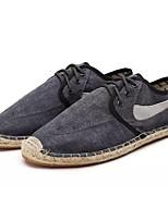 Недорогие -Муж. Полотно Лето Удобная обувь Кеды Темно-серый / Синий / Винный