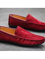 Недорогие -Муж. Комфортная обувь Замша Весна & осень На каждый день Мокасины и Свитер Черный / Хаки / Вино