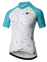cheap -Mysenlan Short Sleeve Cycling Jersey - Fuchsia / Blue Bike