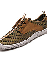 cheap -Men's PU(Polyurethane) Summer Comfort Sneakers Gray / Brown / Blue