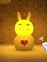 cheap -JIAWEN 1pc Rabbit Nursery Night Light / Smart Night Light White / Yellow USB For Children / Dimmable / Lovely 5 V