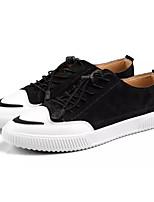 Недорогие -Муж. Комфортная обувь Свиная кожа / Полиуретан Лето Кеды Черный / Серый