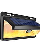 Недорогие -1шт 4.5 W Солнечный свет стены Водонепроницаемый / Работает от солнечной энергии / Инфракрасный датчик Белый / Янтарный 3.7 V Уличное освещение / Бассейн / двор