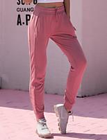 economico -Per donna A cordoncino / Harém / Beam Foot 1 pezzo Pantaloni da corsa - Blu, Rosa, Grigio Gli sport Tinta unica Pantaloni Yoga, Fitness, Danza Abbigliamento sportivo Asciugatura rapida, Traspirante