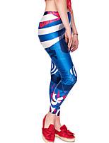 cheap -Women's Daily Basic Legging - Geometric / Color Block Mid Waist