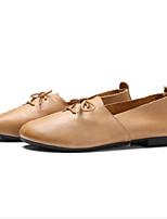 Недорогие -Жен. Наппа Leather Весна Туфли лодочки Обувь на каблуках На плоской подошве Бежевый / Розовый / Верблюжий