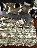 economico -Set Copripiumino Lusso Poliestere Jacquard 4 pezzi