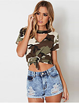 abordables -Tee-shirt Femme, camouflage Basique