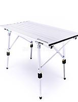 cheap -BEAR SYMBOL Camping Table Outdoor Anti-Slip, Folding Aluminium for Fishing / Camping Silver
