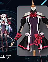 Недорогие -Вдохновлен Sword Art Online Куки-аниме Аниме Косплэй костюмы Косплей Костюмы Аниме Платье / Перчатки / Носки Назначение Жен.