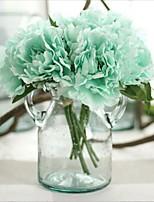baratos -Flores artificiais 1 Ramo Clássico / Solteiro (L150 cm x C200 cm) Estiloso / Pastoril Estilo Peônias Flor de Mesa