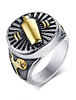 cheap -Men's Stylish Statement Ring - Stainless Steel Artistic, Trendy, Hip-Hop 8 / 9 / 10 Gold For Gift / Ceremony