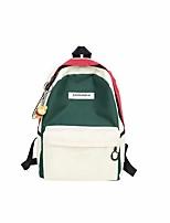 Недорогие -Жен. Мешки холст рюкзак Молнии Черный / Красный / Лиловый