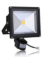 Недорогие -1шт 50 W LED прожекторы Инфракрасный датчик / Монитор обнаружения движения Тёплый белый / Холодный белый 85-265 V Уличное освещение / двор / Сад