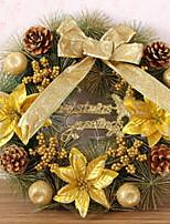 economico -Ghirlande Vacanza di legno Tonda di legno Decorazione natalizia