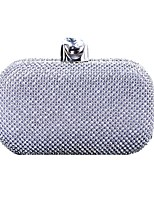 cheap -Women's Bags Alloy Evening Bag Crystals Gold / Black / Silver