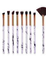cheap -10-Pack Makeup Brushes Professional Make Up Nylon Brush Full Coverage Plastic