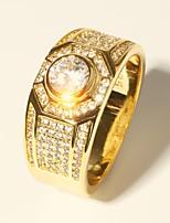 preiswerte -Herrn Klassisch / Stilvoll Ring - Diamantimitate Kostbar Luxus, Klassisch, Modisch 7 / 8 / 9 Gold Für Party / Verabredung