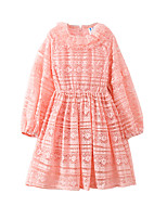 cheap -Kids Girls' Active Solid Colored Long Sleeve Dress