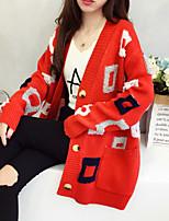 cheap -Women's Basic Cardigan - Solid Colored / Geometric