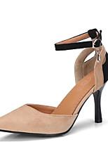Недорогие -Жен. Комфортная обувь Замша Весна / Лето Обувь на каблуках На шпильке Черный / Розовый / Миндальный