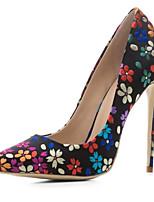 Недорогие -Жен. Обувь Полотно Весна Туфли лодочки Обувь на каблуках На шпильке Цвет радуги