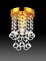 Недорогие -полуподъёмный потолочный светильник современная светодиодная хрустальная люстра хром 1-светлая столовая спальня потолочный светильник