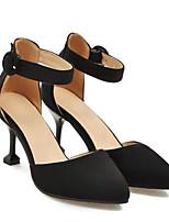 Недорогие -Жен. Обувь Замша Весна Туфли лодочки Обувь на каблуках На шпильке Черный / Бежевый / Розовый