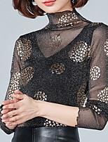 abordables -Tee-shirt Femme, Couleur Pleine Col Ras du Cou