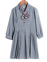 cheap -Kids Girls' Striped / Floral Long Sleeve Dress