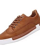 Недорогие -Муж. Комфортная обувь Полиуретан Осень Кеды Черный / Коричневый / Светло-серый